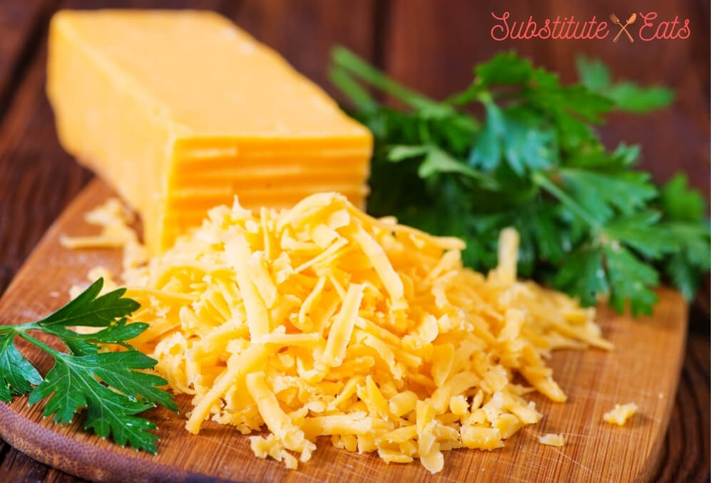 emmental cheese substitute - Cheddar Cheese