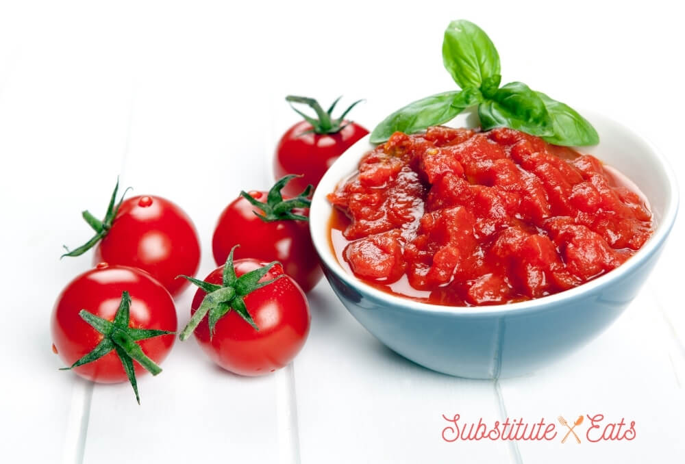 Substitute for stewed tomatoes - Crushed Tomatoes