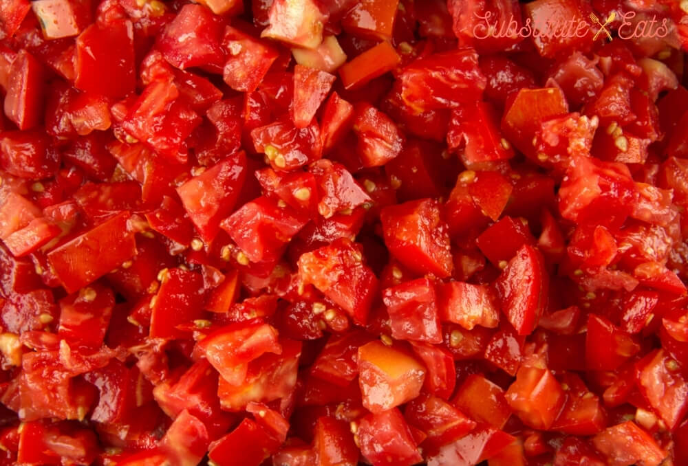 substitute for stewed tomatoes - Diced Tomatoes
