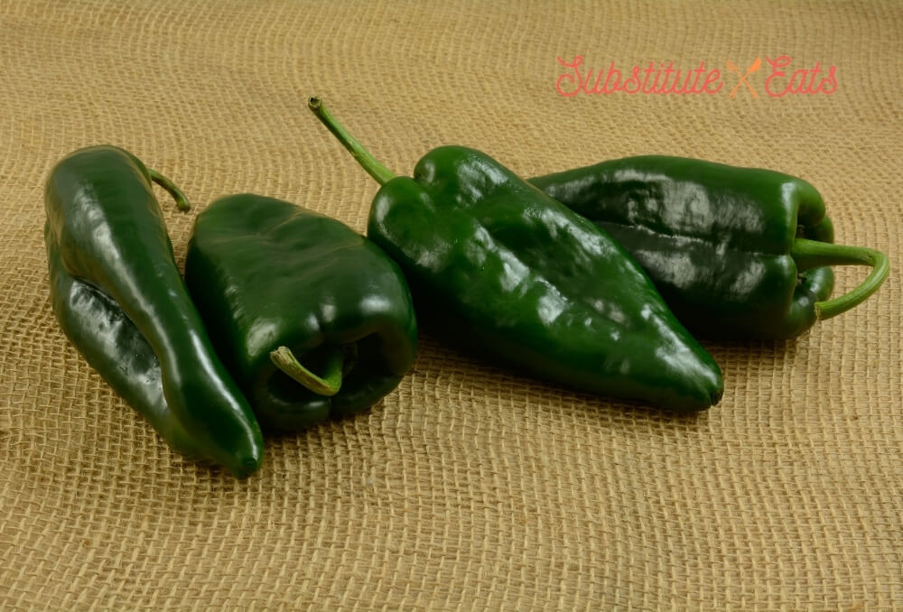 Green Chilies Substitute - Poblano Peppers